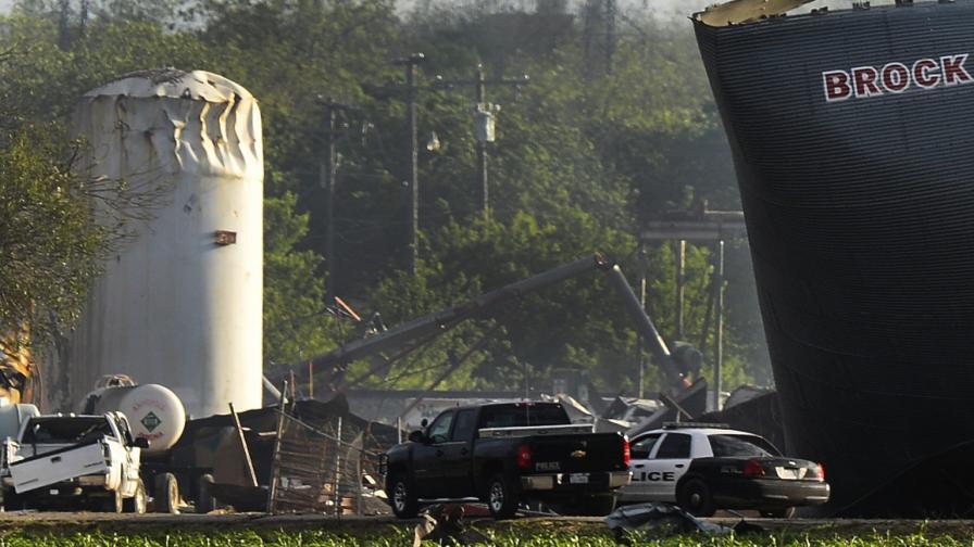 1350 пъти повече амониева силитра от позволеното в завода за торове в Тексас