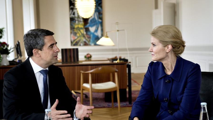 Президентът Росен Плевнелиев се срещна с премиера на Дания г-жа Хеле Торнинг-Смит