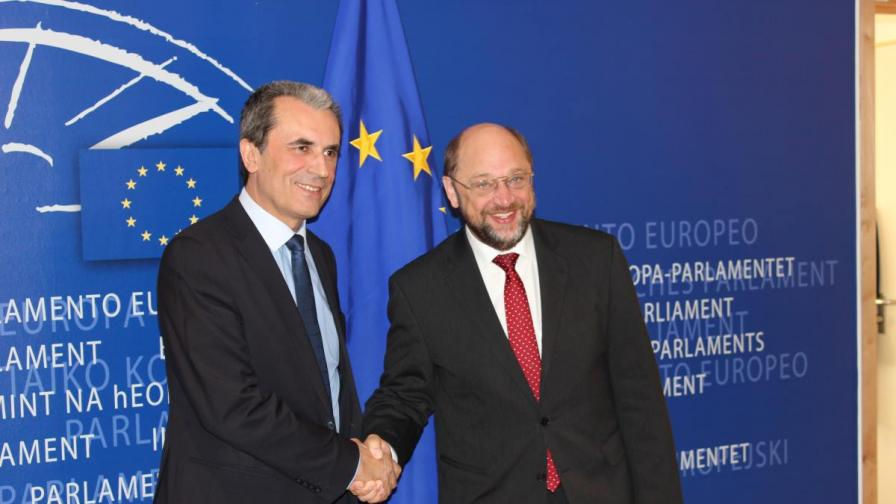Председателят на ЕП е пожелал успех на Пламен Орешарски