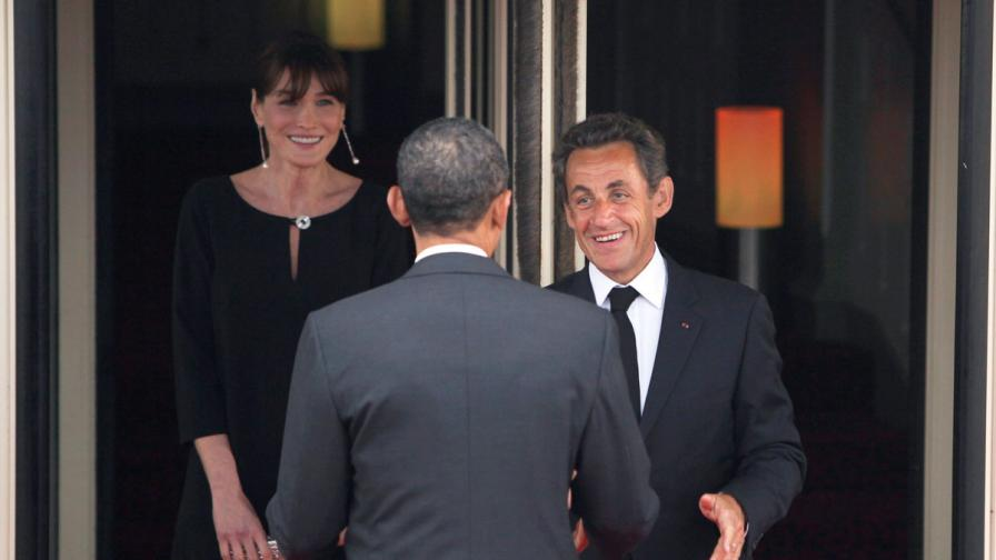 Карла Бруни, Никола Саркози и Барак Обама