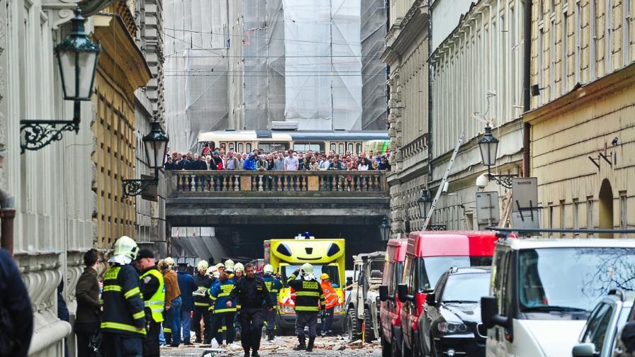Взрив в центъра на Прага