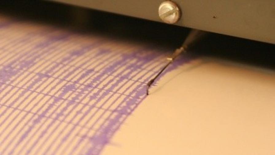Земетресение от 3,2 регистрирано в България