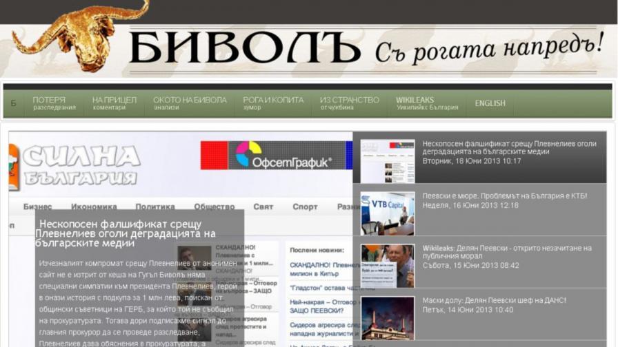 Фалшификат срещу президента Плевнелиев