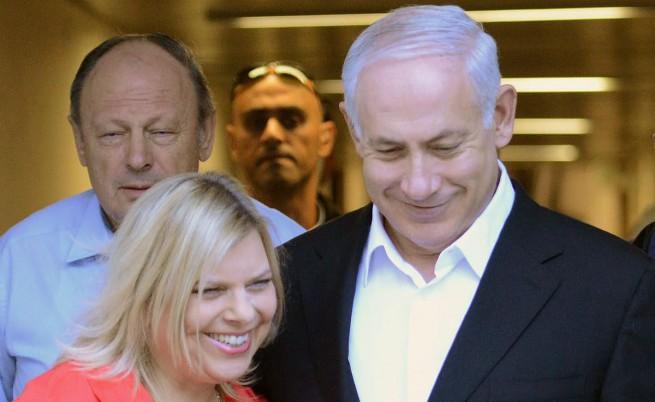 Нетаняху и съпругата му Сара