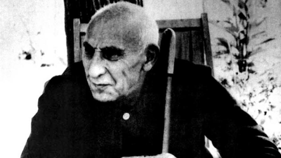 Мохамед Мосадък (1882-1967) сниман в края на живота си