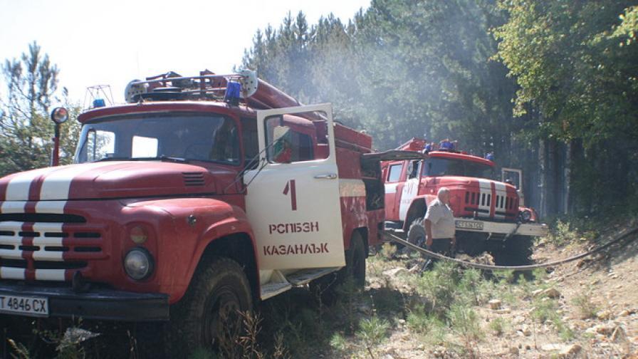 Локализиран е пожарът край Змейово