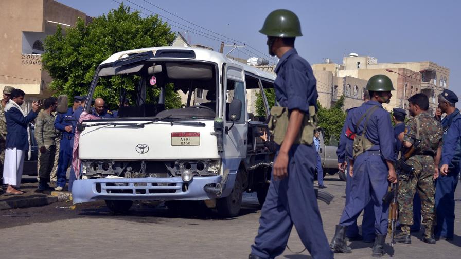 Атентат срещу военен автобус в Йемен