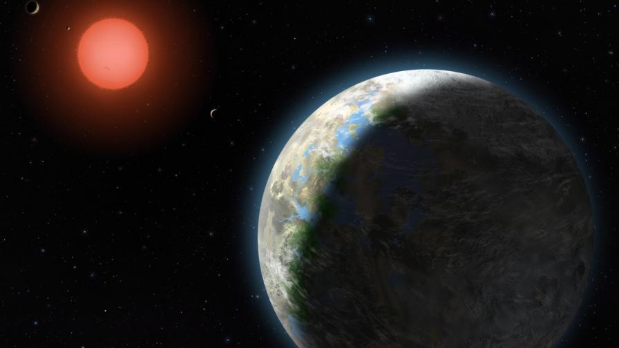 Ново петно на Слънцето показва колко малка е Земята