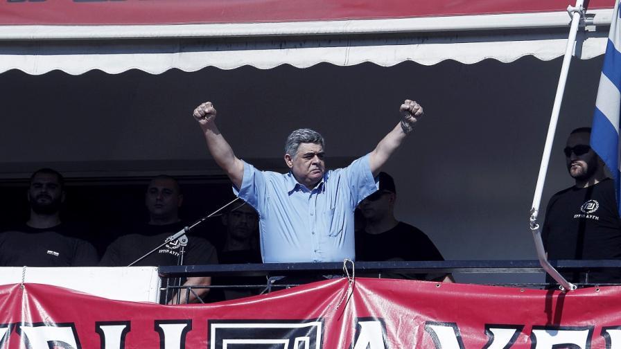 """Лидерът на неонацистката партия """"Златна зора"""" Никос Михалолякос"""