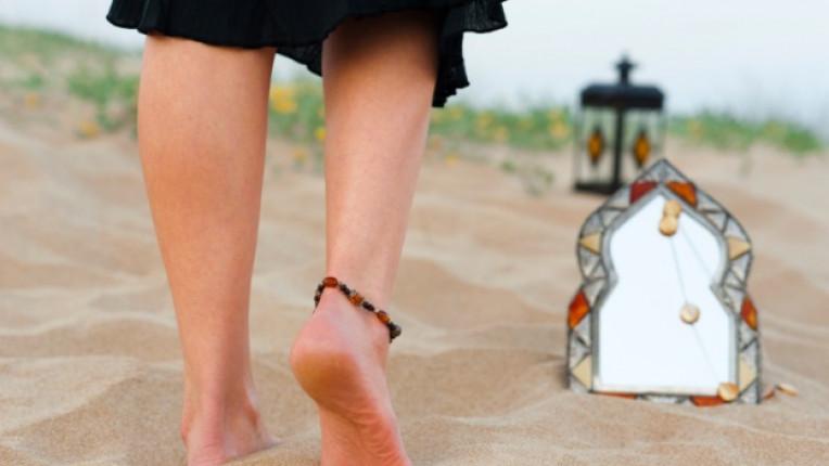 стъпки пясък лято