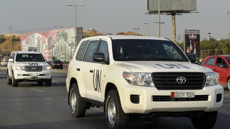 Инспекторите от ОЗХО имат рискована работа в Сирия