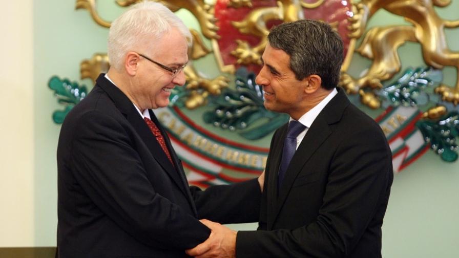 Иво Йосипович (вляво) и Росен Плевнелиев
