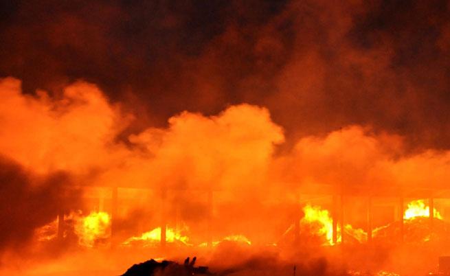 Взривове и пожар в склад за снаряди на ВМЗ Сопот в село Иганово, няма жертви