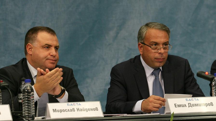 Мирослав Найденов (вляво) и Емил Димитров
