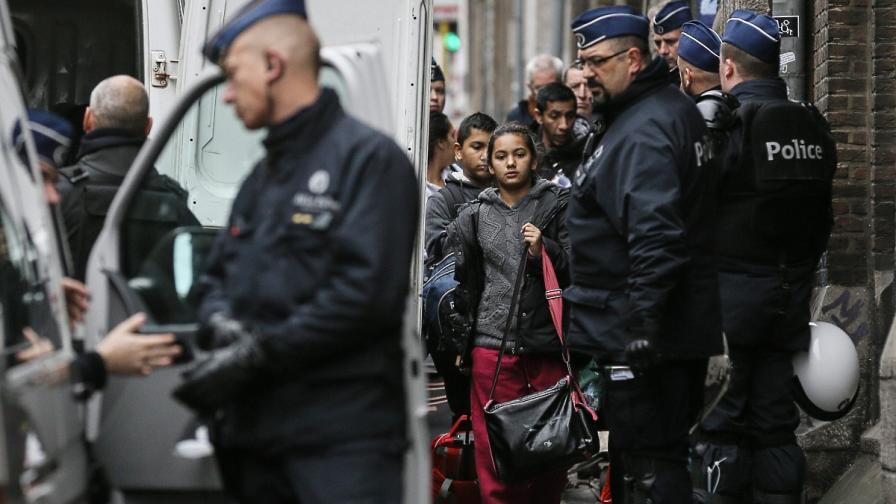 10 български роми са били временно задържани от полицията в Брюксел