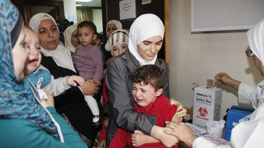 Масова ваксинация срещу полиомиелит в Сирия