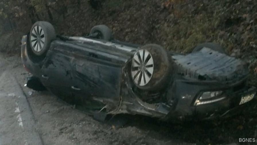 Екипът на Бареков претърпя катастрофа край Монтана