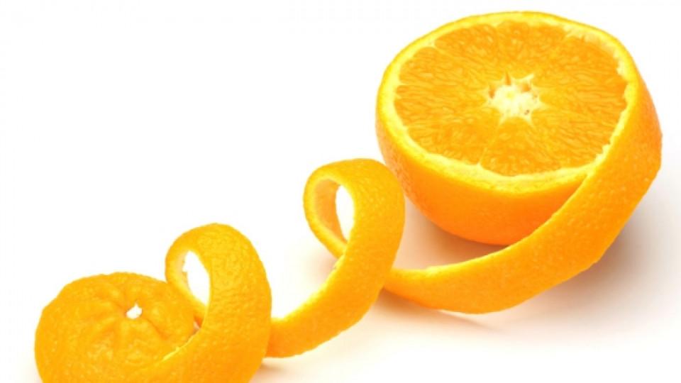 Портокаловата кора е богата на витамин C и фибри