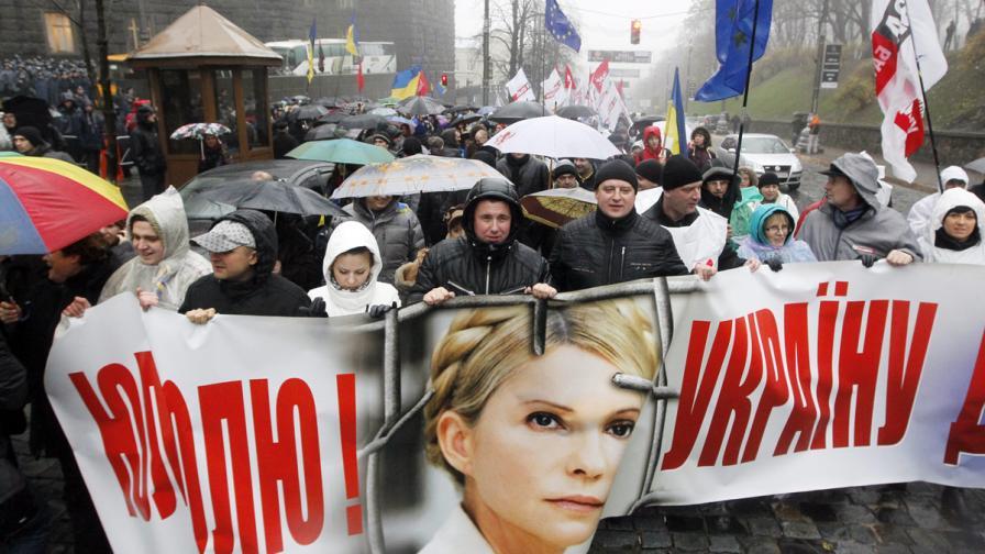 Тимошенко сравни Янукович със Сталин