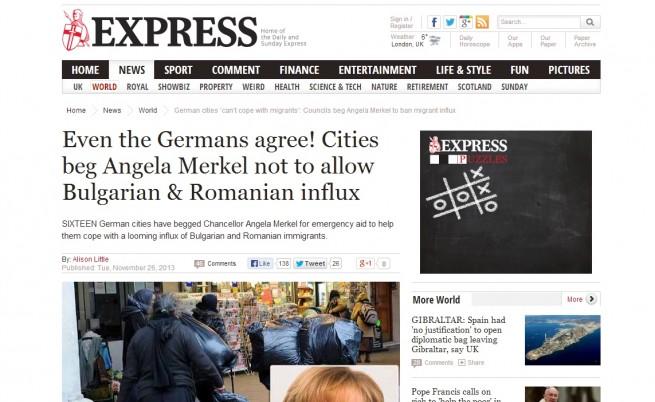 Британски вестник: И Германия е притеснена от имигрантите