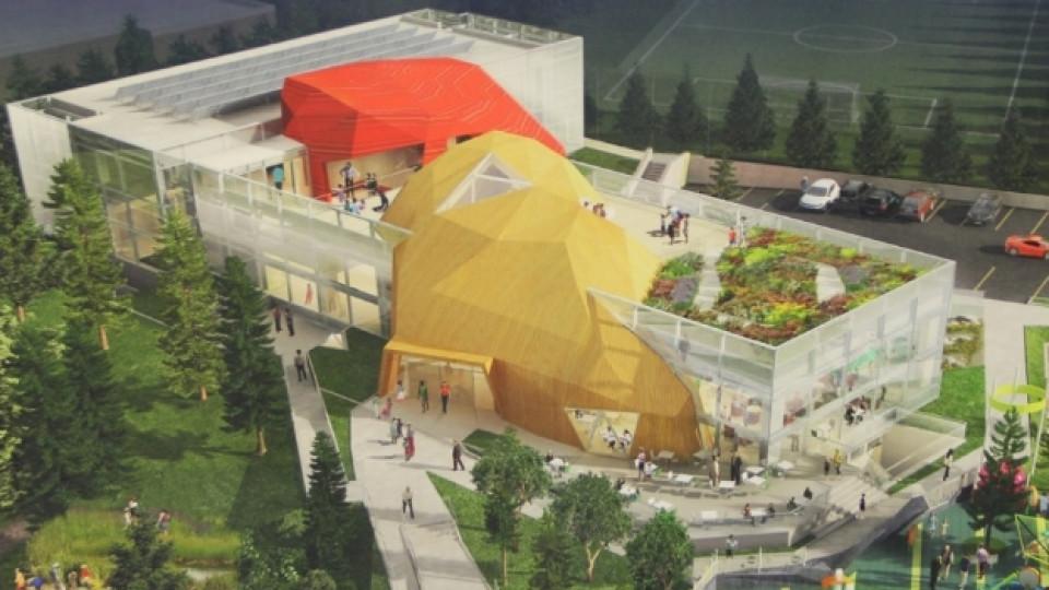 Макет на бъдещата нестандартна сграда на детския музей