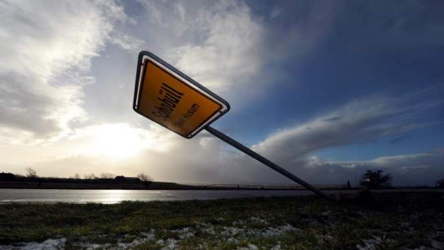 Кадър от Германия, заснет след бурята Ксавер
