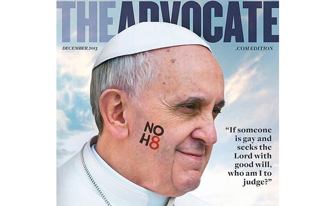 Гей-списание обяви папата за личност на годината