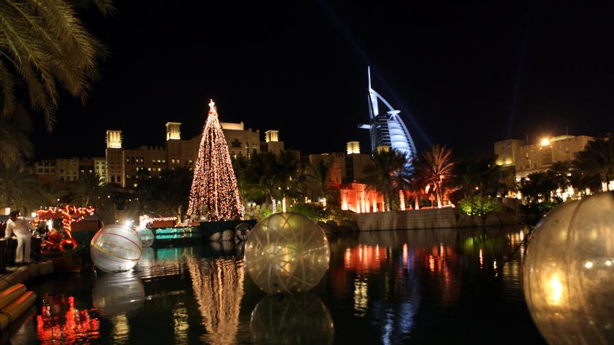 Как Дубай посреща Коледа