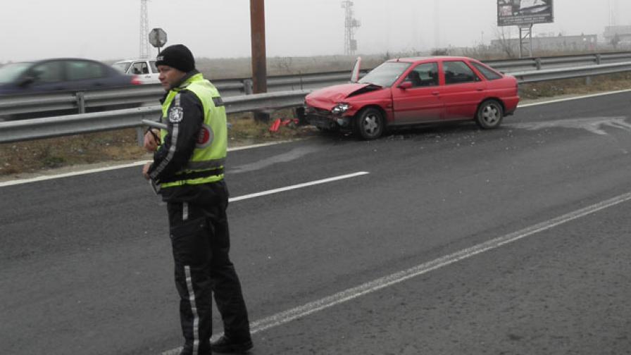 Момче се хвърли пред автомобил край Благоевград