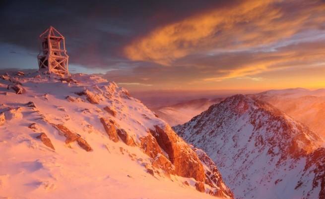 Снимка на Мая Къркаличева на връх Мусала
