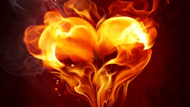сърце огън пламък