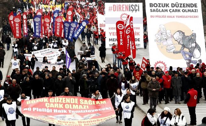 Многохиляден протест срещу Ердоган